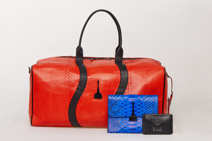 ON THE GO Duffle Bag in Red - Top Designer Bags