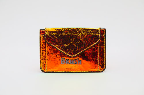 Card Holder in Reflective Neon Orange