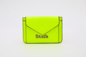 Card Holder in Reflective Neon Green