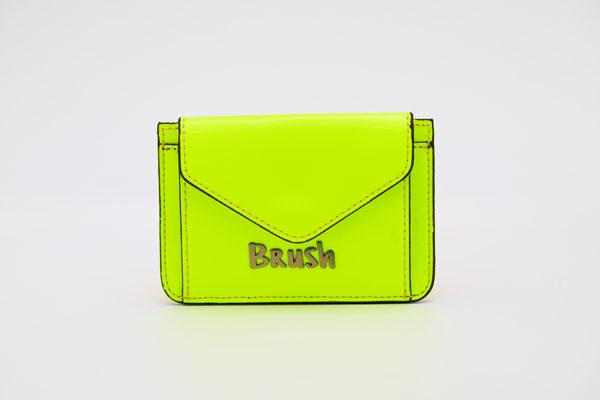 Card Holder in Reflective Neon Green