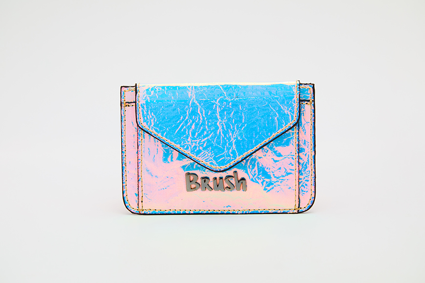 Card Holder in Reflective Blue