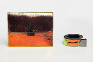 Reflective Brush Bag In Orange & Green