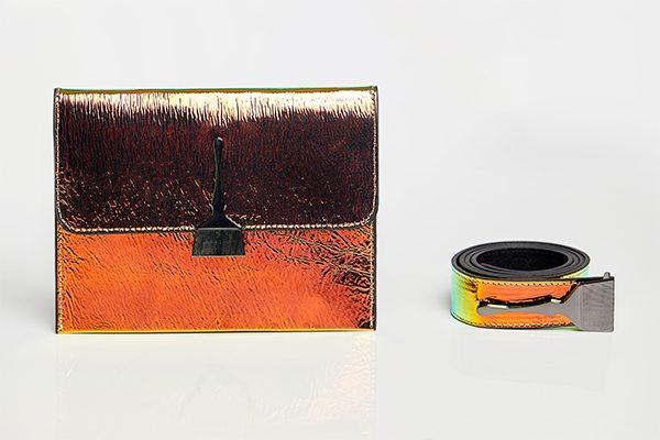 Reflective Brush Bag In Orange & Green