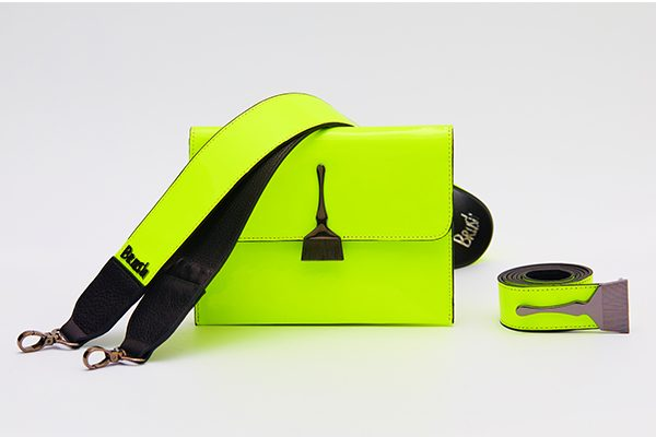 Reflective Brush Bag in Neon Green