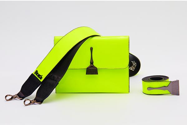 Reflective Brush Bag in Neon Green