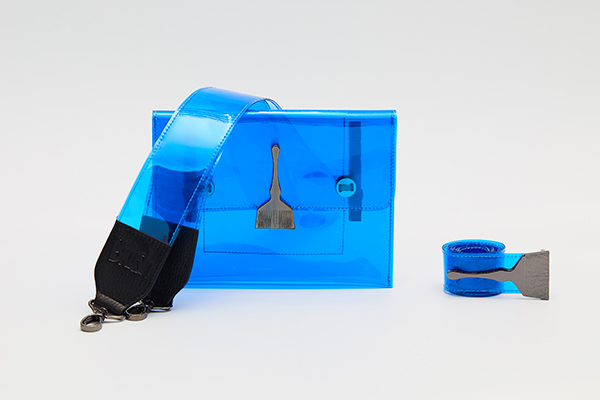 Brush Reflective Transparent Bag Blue
