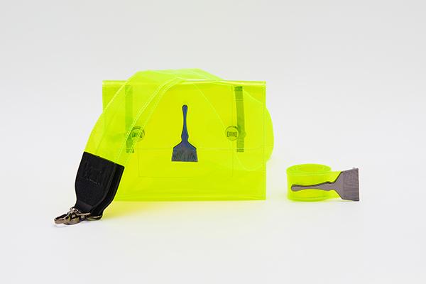 Brush Reflective Transparent Bag Green