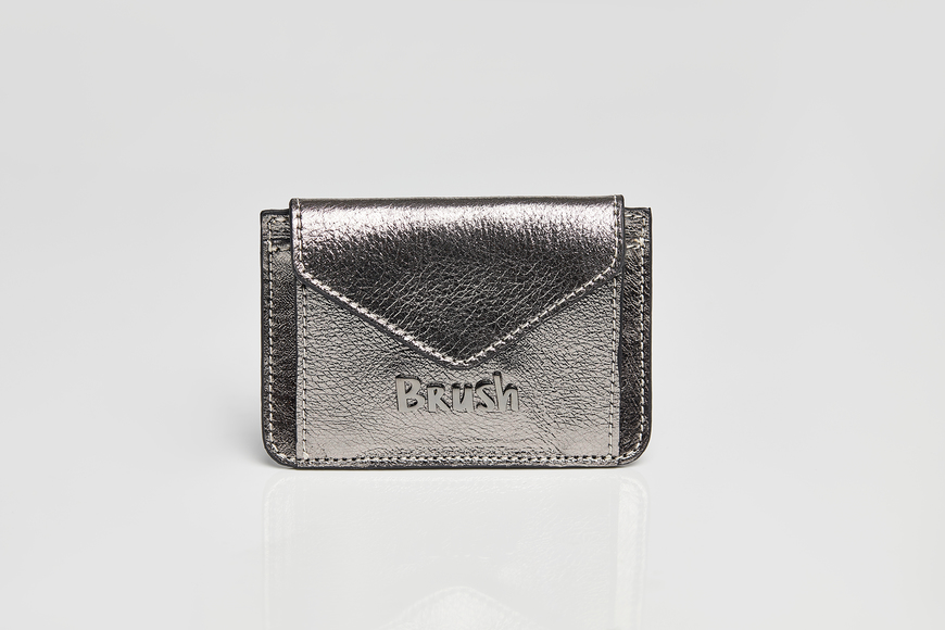 Card Holder Metallic Gray
