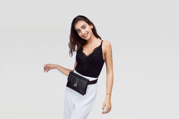 Stroke Of Wild Bag With Black Stripe - Leather Bags for Women