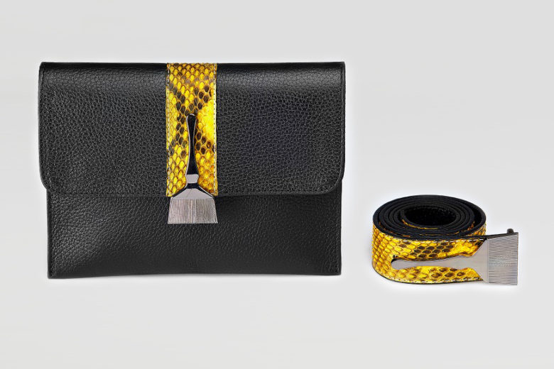 Stroke Of Wild Bag With Yellow Stripe