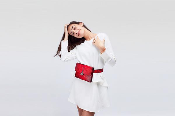 The Wild Bag in Red - Genuine Python Skin Handbags