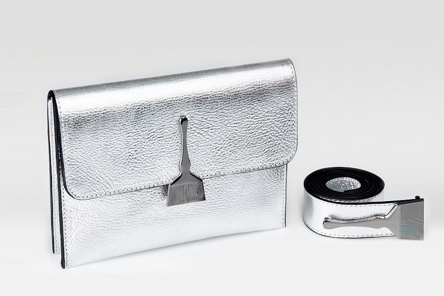 The Mild Bag In Silver - Genuine Leather Bags