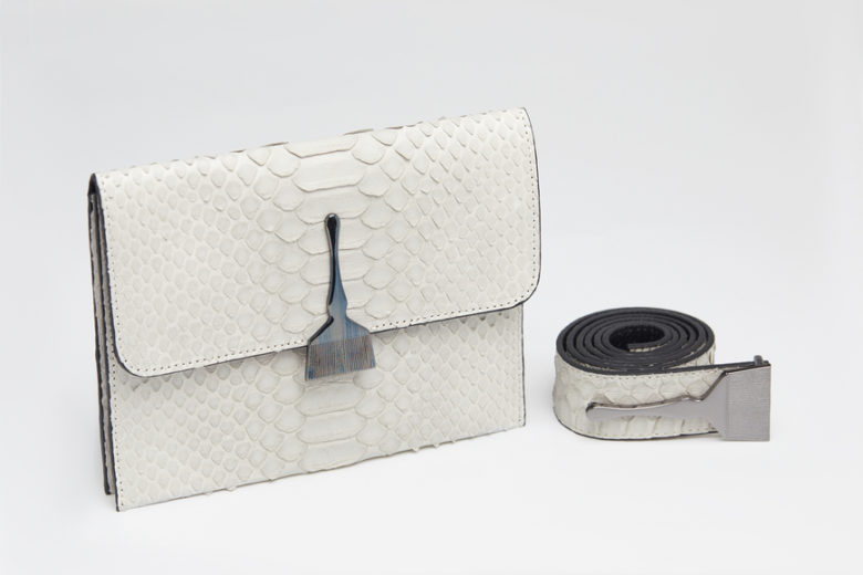 The Limited Edition Python Bag in Gray - Snake Leather Bag