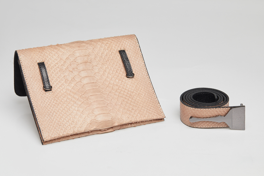 The Limited Edition Python Bag in Nude - Luxury Belt Bag
