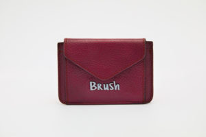 Card Holder in Burgundy