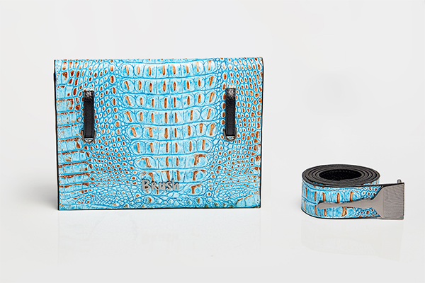 Limited Edition Bag With Blue Croc Print/Best Quality Designer Bags