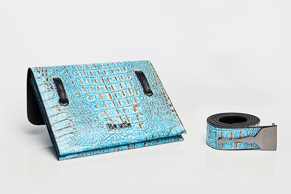 LIMITED EDITION BAG WITH BLUE CROC PRINT - Popular Designer Bags