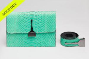 Python Bag in Mint - Designer Belt Bags