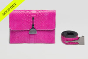 THE LIMITED EDITION PYTHON BAG IN FUCHSIA