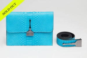 THE LIMITED EDITION PYTHON BAG IN TURQUOISE